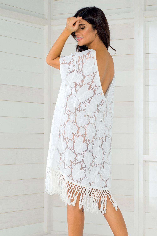 Dámske letné šaty talianskej značky Iconique IC8011 White 4010a24f5d3