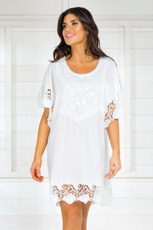 Dámske talianske letné šaty Iconique IC8013 White 7c0766782ba