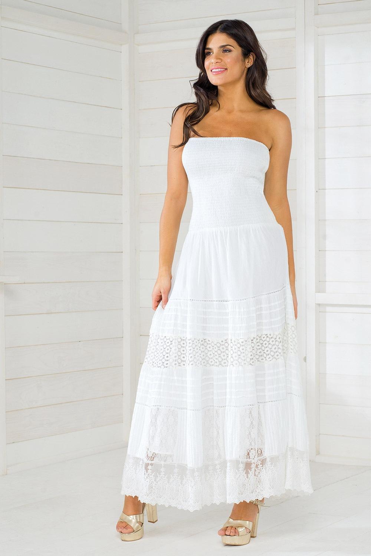 Dámske talianske letné šaty Iconique IC8016 White cafaab083ef