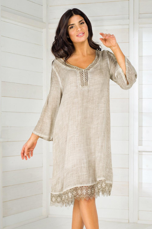 Dámske plážové šaty talianskej značky Iconique IC8057 Sand a5dd39941f6