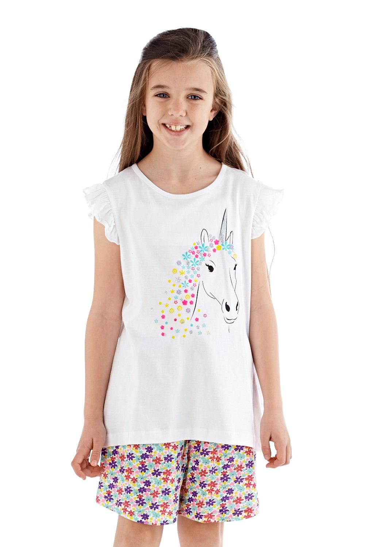 b6c582edb9e1 Dievčenské pyžamo krátke biele