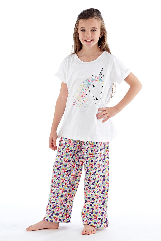 a0a0b2783 Dievčenské pyžamo Polly dlhé biele