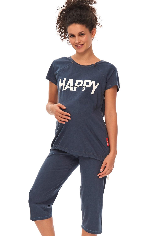 00a5753c8 Materské dojčiace pyžamo Happy Mommy modré