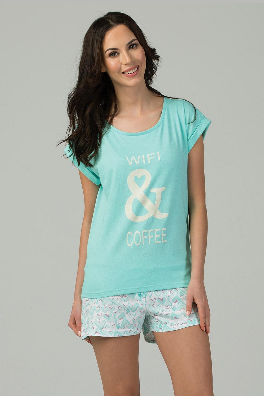 Dámske pyžamo Wifi & Coffee