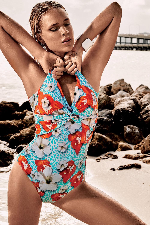 ce62e3d86 Dámske jednodielne plavky Vacanze Luxuy bez kostíc